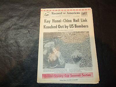 1972 Stanley Cup Newspaper Record American  Boston Bruins vs New York Rangers