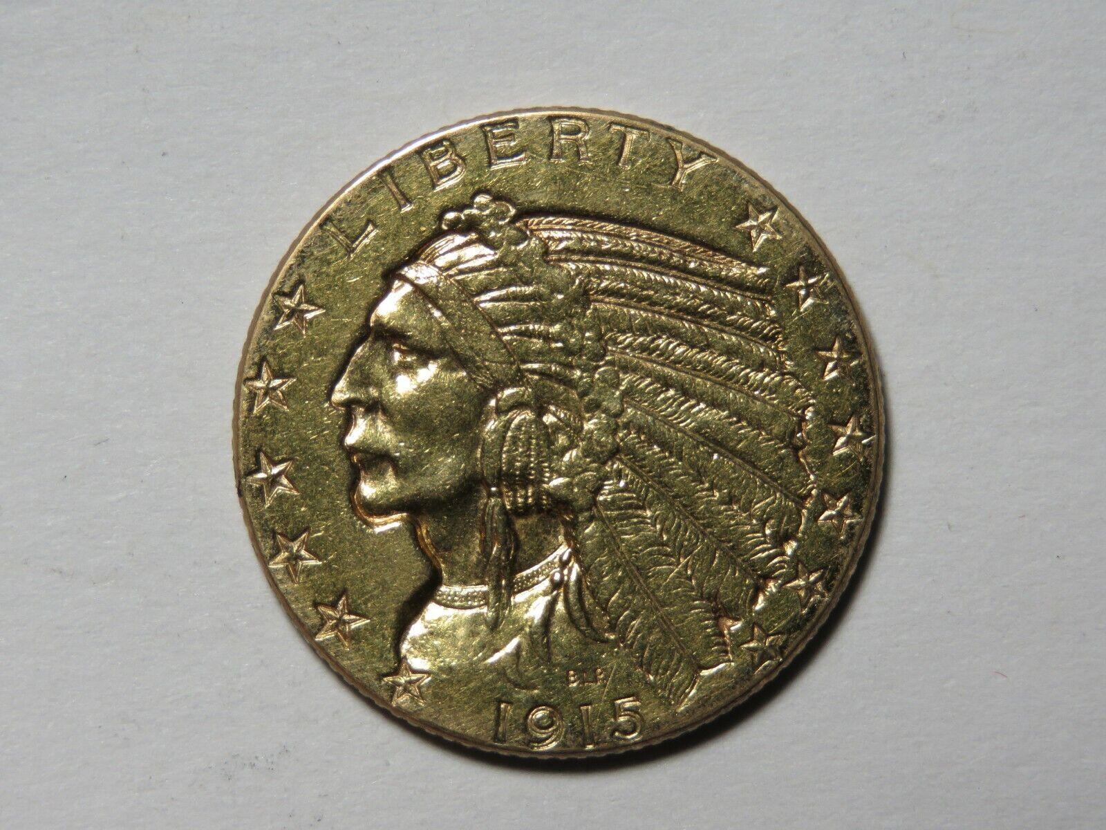 1915 5 Incuse Indian Gold Half Eagle - Jewelry Grade - $670.00