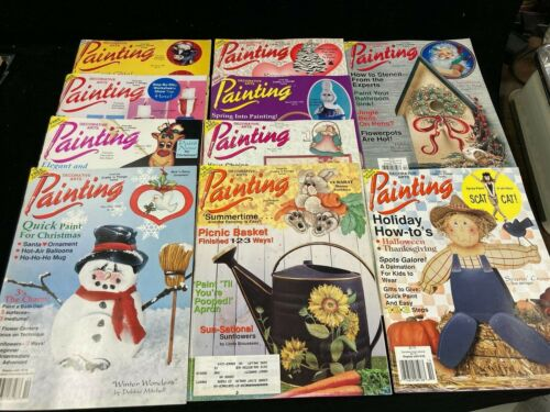 DECORATIVE ARTS PAINTING, LOT OF 10 MAGAZINES, 1993-1994, WITH PATTERNS