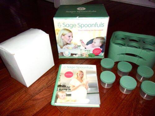 SAGE SPOONFULS ~ Homemade Baby Food Maker w/Blender Processor Jars & Recipe Book