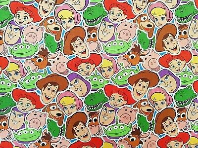 Official Disney Toy Story 4 Craft Cotton Print Fabric - Collage Design