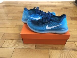 Blue Nike flyknit running shoes (worn) (size 11)