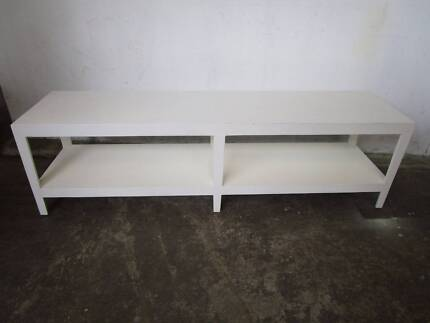 D34029 Long White Console Table Coffee Table Bench Seat Sideboard