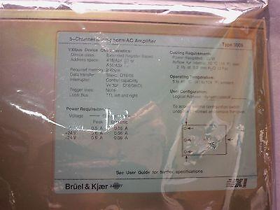 Bruel Kjaer Vvi 5-channel Microphoneac Amplifier Type 3009
