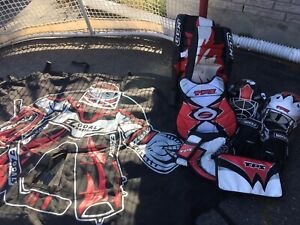 Road Hockey Net & Goalie Gear