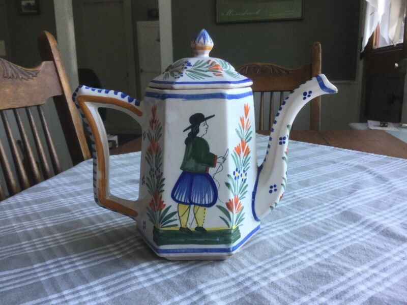Henriot Quimper Teapot France