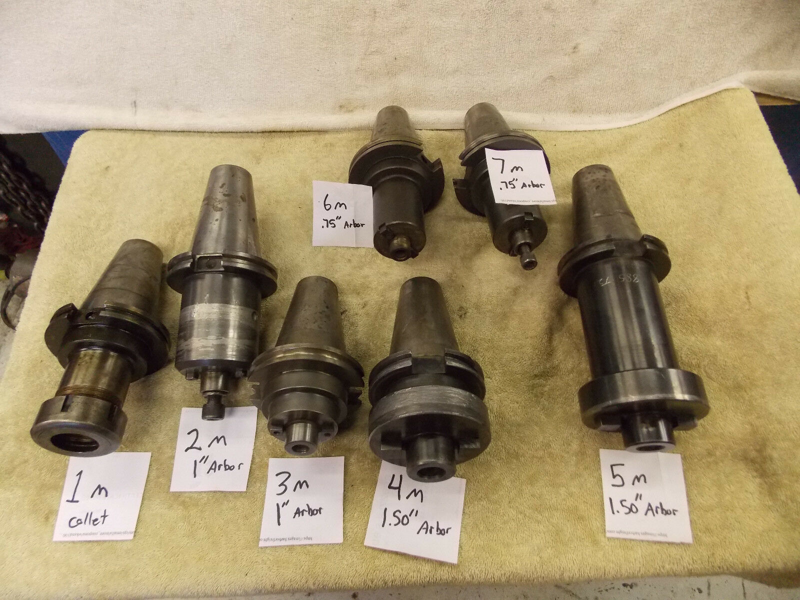 """(6) Cat 50 shell mill holder to choose from Pilot size .75 1.00"""" 1.5"""" one collet"""