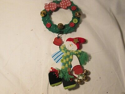 Christmas Door Wall Wreath Hanging Decoration with Snowman ()