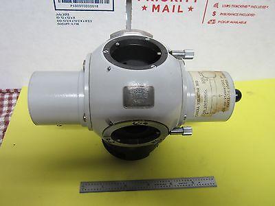 Microscope Part Photomic Zeiss Head Trinocular Heavy Optics As Is Binh8-08
