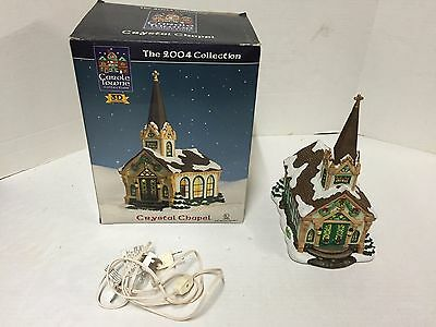 Carole Towne Collection 2004 The Crystal Chapel 3D Christmas Village Piece