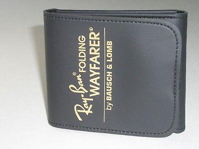 BAUSCH & LOMB RAY BAN BLACK FOLDING WAYFARER SUNGLASSES CASE ONLY (BRAND (Folding Wayfarer Case Only)