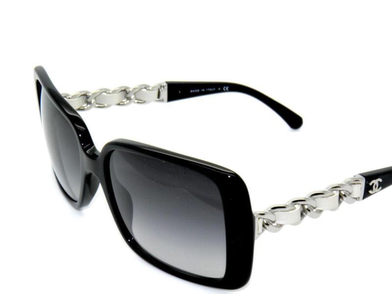 Sunglasses Logo Black And White Chanel Sunglass...