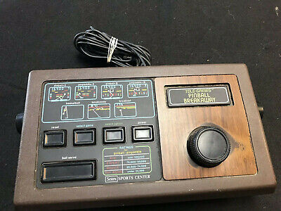 Sears Telegames: Pinball & Breakaway Pong Console working Great no ac adapter