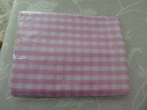Karierter Dekostoff, rosa/weiß kariert, 145 x 300 cm, Polyester, neu