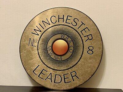 Winchester Leader Headstamp Shells Hunting Gun Vintage Style Metal Sign