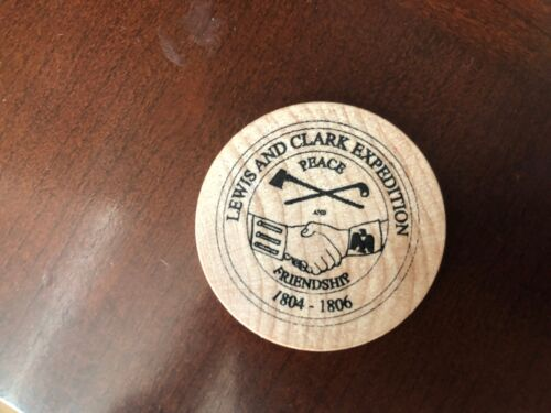 LEWIS AND CLARK EXPEDITION Wooden Token