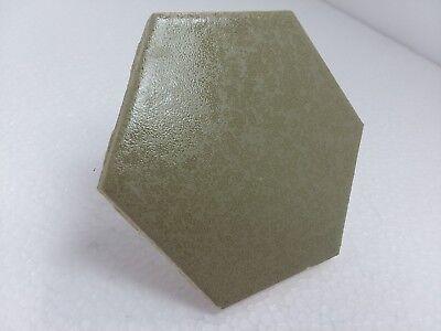 """3 7/8"""" FT Florida Tile Hexagon Crystalline Avocado Brown Green Classic Color 125"""