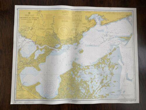 Vintage 1970 Lake Borgne Cat Island Louisiana Gulf Coast Nautical Maritime Map