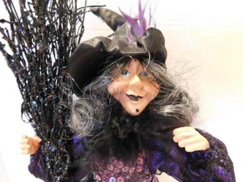 Wayne Kleski Halloween Witch/Doll on the Stand/Black and Purple w/ Tassel skirt