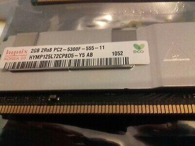 HYNIX 2GB 2Rx8 PC2-5300F-555-11 HYMP125L72CP8D5-Y5 AB 511-1151-01 CF00511-1151