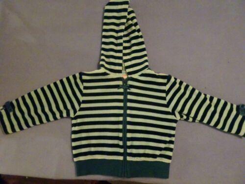 Gymboree, Vintage 2004 Toddler Girls Blues Velour Striped Zip Up Hoodie, Size 3