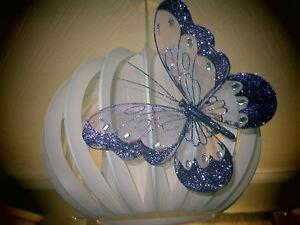 Large Purple Pretty Clip-on Glitter Jewel Butterfly-Weddings-Decorative-Parties