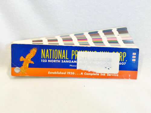 VINTAGE 1963 PMS COLOR SYSTEM - FAN DECK - NATIONAL PRINTING INK CORP.