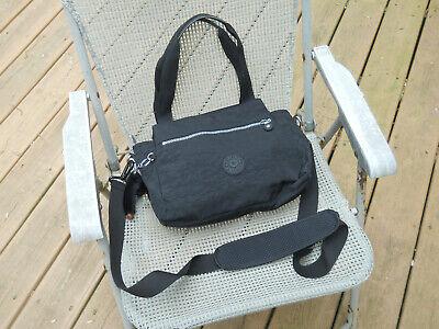 KIPLING Black Nylon Shoulder Bag/Satchel/Messenger with Monkey Pendant
