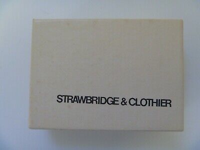 Vintage Strawbridge & Clothier White Jewelry gift box, Defunct 2006 Dept store