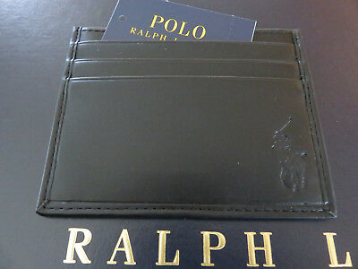 Polo RALPH LAUREN Black Leather Card Case ID