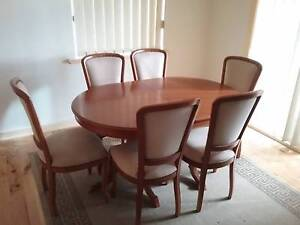 Extendable dining table and 6 upholstered chairs Marden Norwood Area Preview