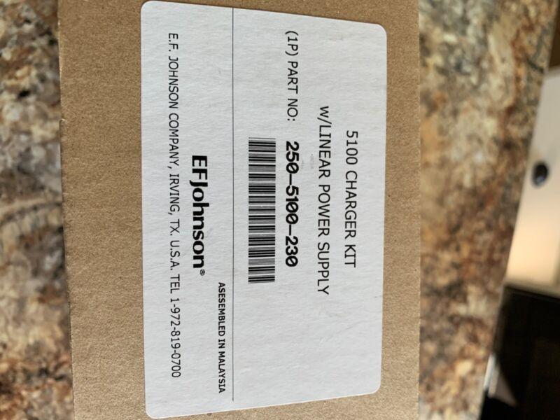 Original EFJohnson Single Unit Battery Charger Kit 250-5100-230 w/ Power Supply