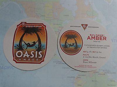 Beer  Coaster     Bjs Brewhouse Brand Oasis Amber Ale   Nationwide Restaurants