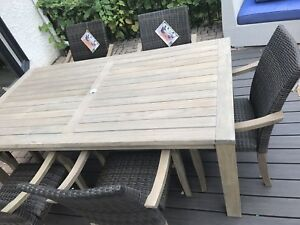 Brand new patio table and 6 chairs TEAK WOOD