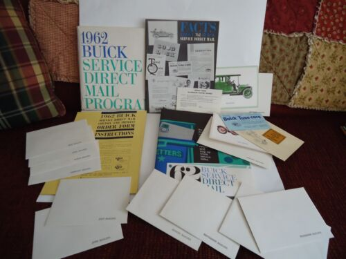 Vintage 1962 BUICK Service Direct Mail Program (Complete) UNUSED