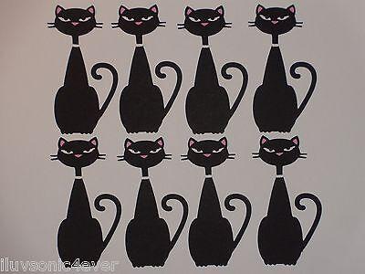 """8 black cats 3 1/2"""" tall  die cuts"""