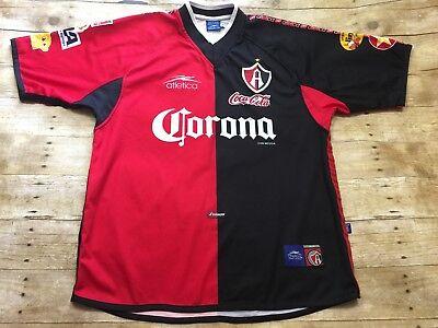 Atlas Jersey VTG Mexico Futbol 2000-01 Sz Large RARE Atletica Football Soccer image