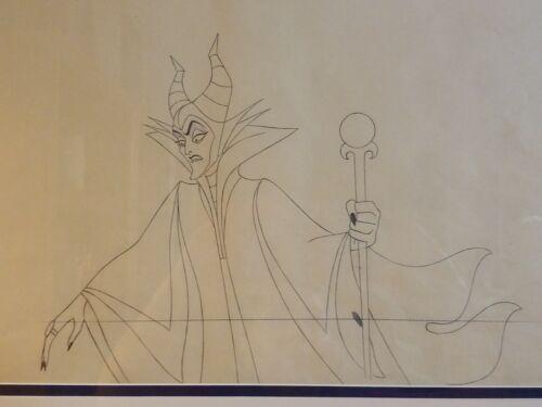 Sleeping Beauty 1959 Production Drawing of Maleficent Walt Disney Animation Art