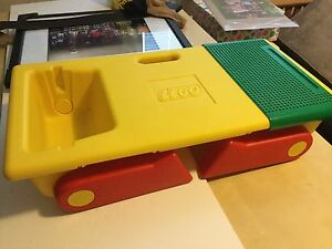 Portable lego lap tray table