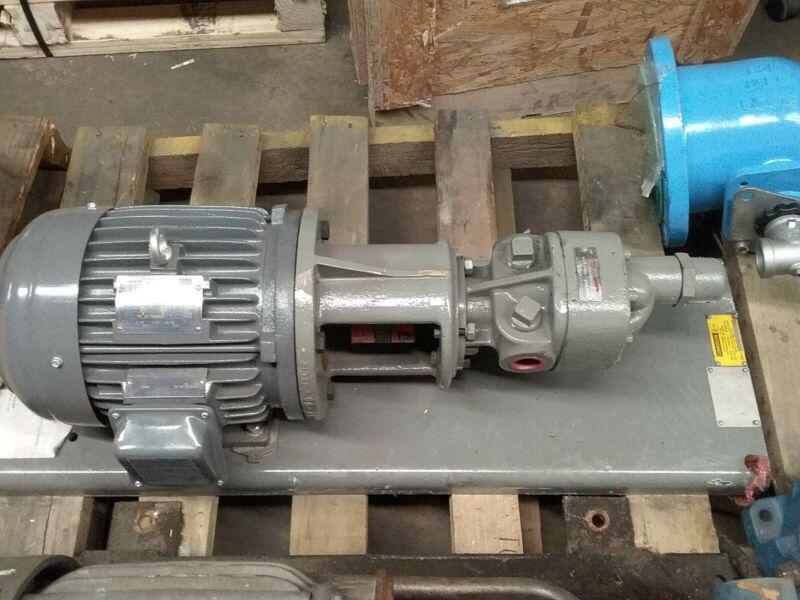 Flowserve 4GAFM1D0 pump on base w/ 3HP Motor New