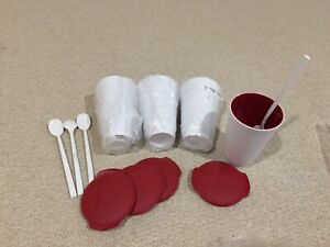 Tupperware Ice Cream cup & spoon set