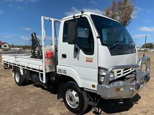 Isuzu NPS300 4x4 Traytop Crane Truck. Ex QLD Government Inverell Inverell Area Preview