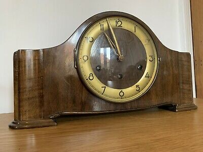 Gorgeous SMITHS  SUPERB 8 DAY WESTMINSTER CHIMING MANTEL CLOCK. FULLY WORKING .