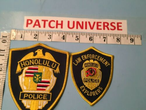 LOT OF 2 DIFF HONOLULU  HAWAII  SHOULDER PATCHES    I099