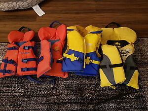 Life jackets.  Kids sizes