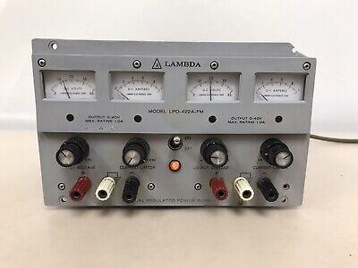 Lambda Lpd-422a-fm Dual Regulated Power Supply 0-40 Vdc