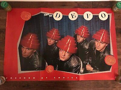 "1980 Vintage ""DEVO"" (FREEDOM OF CHOICE) 34.5"" x 23"" Promo Poster ORIGINAL! RARE!"