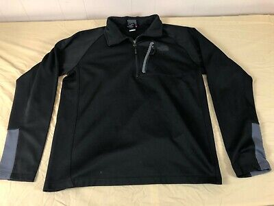 NICE THE NORTH FACE 1/4 ZIP SOFT SHELL BLACK JACKET MENS L/M NEW (Mens Face Style)
