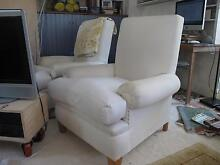Two fully re-upholstered armchairs. Annandale Leichhardt Area Preview