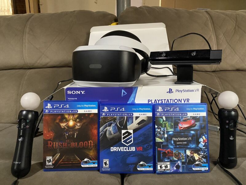 Sony Playstation VR Headset Bundle | With Games, Camera, & Motion Controllers